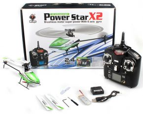WLtoys V930 Power Star X2 4CH 6-Axis Gyro Brushless Flybarless RC Helicopter Mode 2