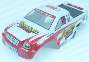 HL Monster Truck Bodyshell PVC 1/10 Scale White and Red