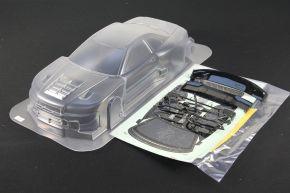 1/10 RC Car PC Lexan Body Clear Shell Nissan GTR R34 XANAVI NIISMO Wide Body