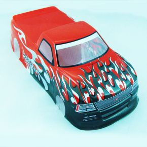 1/10 RC Car PVC Pre Painted Red Body Shell Pick Up Truck