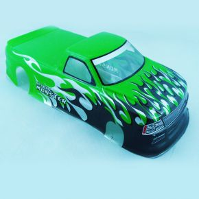 1/10 RC Car PVC Pre Painted Green Body Shell Pick Up Truck