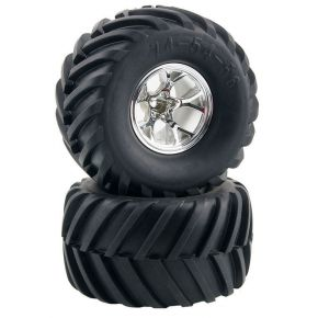 1:10 Monster Truck Rubber Tires Tyre with Plastic Wheel Rim 2PCs 3003
