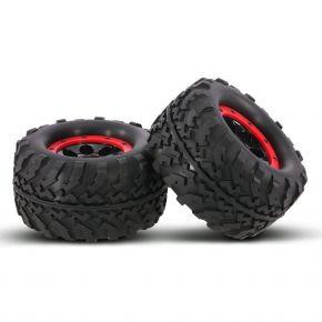 AUSTAR AX-3011 155mm 1/8 Monster Truck Tires with Beadlock Wheel Rim 2Pcs