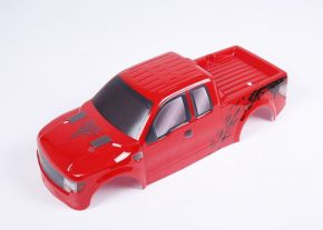 1/8 Rovan RC MONSTER TRUCK PARTS RED PC body shell (Pickup truck)