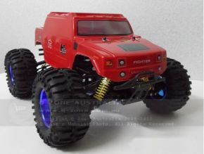 HL3851-6 1:10 Monster Truck Brushless version with HUMMER Red bodyshell - Ready to Run