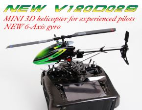 Walkera New V120D02S 6-Channel 3D 6-Axis Flybarless Brushless RTF with DEVO 7E Mode 2
