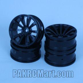 1:10 Wheel Set - Black 10 spokes (4 pieces) - 601