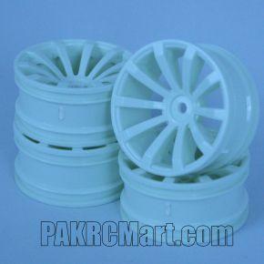 1:10 Wheel Set - White 10 spokes 6mm Offset (4 pieces) - 602