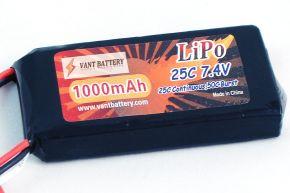 7.4V 1000mAh 25C soft case Lipo Batery