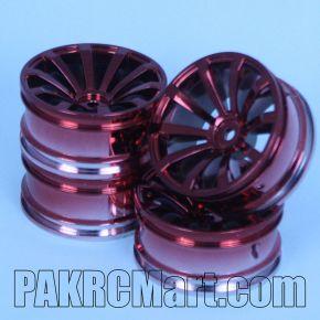 1:10 Wheel Set - Red 10 spokes (4 pieces) - 606