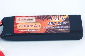 7.4V 2200mAh 25C soft case Lipo Batery