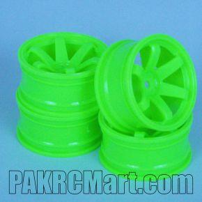1:10 Wheel Set - Green 6 spokes (4 pieces) - 703