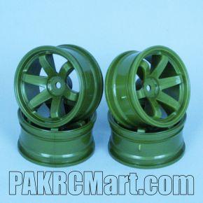 1:10 Wheel Set - Dark Green 6 spokes (4 pieces) - 705