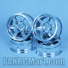 1:10 Wheel Set - Silver 6 spokes (4 pieces) - 706