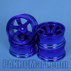 1:10 Wheel Set - Blue 6 spokes (4 pieces) - 708
