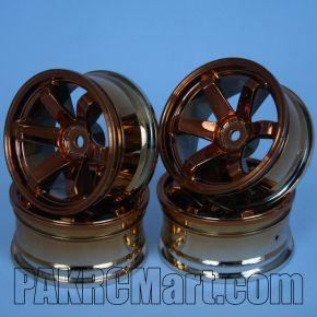 1:10 Wheel Set - Orange 6 spokes (4 pieces) - 709