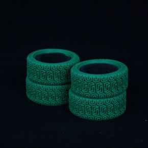 1:10 Rally Tires Green 80017- (4 pieces)