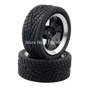 1:10 Road Rubber Tires 8001 - (4 pieces)
