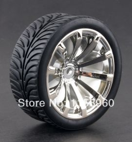 1:10 Road Rubber Tires 8007 - (4 pieces)