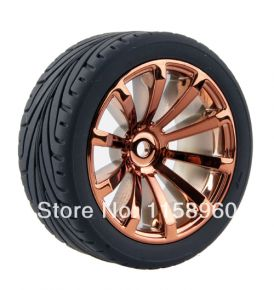 1:10 Road Rubber Tires 8010 - (4 pieces)