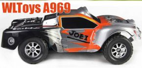 Wltoys A969 Rc Car 1/18 2.4Gh 4WD Short Course Truck Orange Color Ready to Run