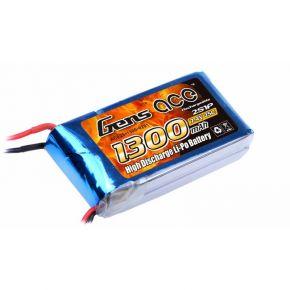 Gens ace 1300mAh 7.4V 25C 2S1P Lipo Battery Pack