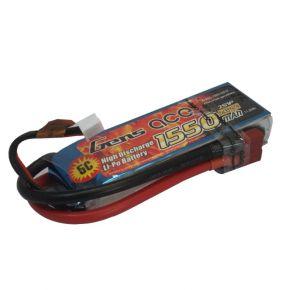 Gens ace 1550mAh 7.4V 25C 2S1P Lipo Battery Pack