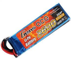 Gens ace 2600mAh 25C 7.4V 2S1P Lipo Pack