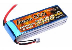 Gens ace 3300mAh 11.1V 25C 3S1P Lipo Battery Pack