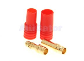 3.5mm Gold Plated Connector with Red Housing