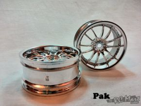 1:10 Wheel set 'V' 12-Spoke Silver CF-2004 (2 pieces)