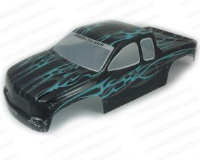1/8 Scale Truck Pre Painted Black & Green Bodyshell
