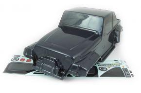 1/8 Scale Wrangler Pre Painted Black Bodyshell