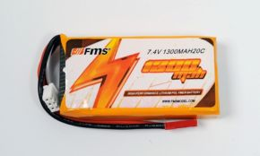 7.4V 1300mAh Li-Po Battery for FMS 4 CH Easy Trainer 1280 RC Trainer Airplane
