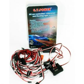 G.T. POWER RC Car Controlled / Simulated and Flashing Light System