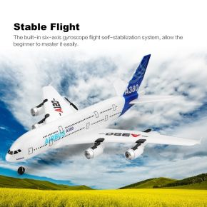 A380 Airbus 420mm Wingspan 2.4G 3CH EPP RC Airplane Fixed-wing Glider RTF Built-in Gyro Battery