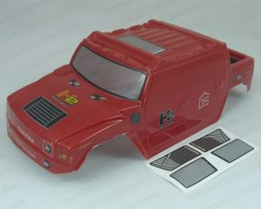 1/10 Scale Pre-Painted HUMMER H2 RED bodyshell