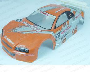 HL Skyline Orange Bodyshell PVC 1/10 Scale Touring Rally Car