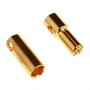 5.5MM Gold Plated Connector Male and Female