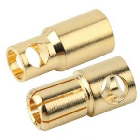 6.0MM Gold Plated Connector Male and Female