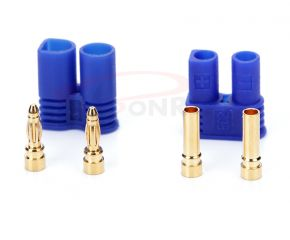 2.0mm Gold Plated Connector with Blue EC2 Housing