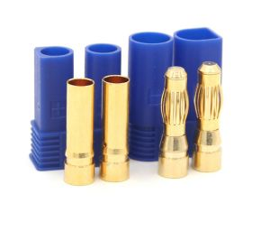 New EC5 Connector 5.0mm Gold Plated Connector with Blue EC5 Housing (one male & one female)