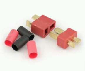 Male and female T plug Connector with Heat Shrink Tube