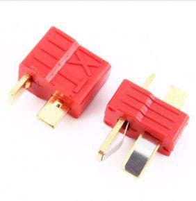 Antiskid Deans Ultra T plug Red