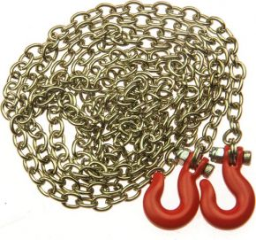 Steel Tow Chain with Hooks