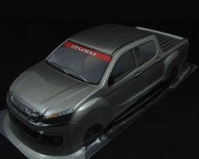 1/10 RC Car PVC Pre Painted Gray Body Shell Isuzu Pick Up Truck