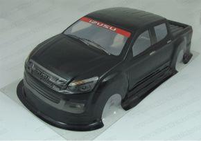 1/10 RC Car PVC Pre Painted Black Body Shell Isuzu Pick Up Truck