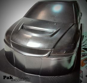 1:10 MITSUBISHI LANCER EVOLUTION 9 PC CARBON-PAINTED BODY SHELL