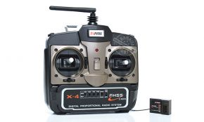 FMS 4 Channel 2.4GHz X4 Radio System Set (Transmitter + Receiver)