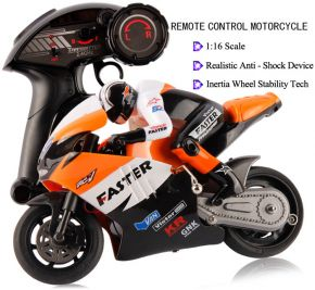 JXD 806 ORANGE COLOR 2.4GHz Radio Control 1 / 16 Scale Motorbike with Inertia Wheel Device + Realistic Shock Absorber